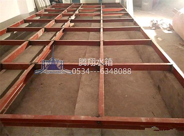 石家庄国际贸易城(石家庄西兆通镇)A区不锈钢水箱槽钢底座基础