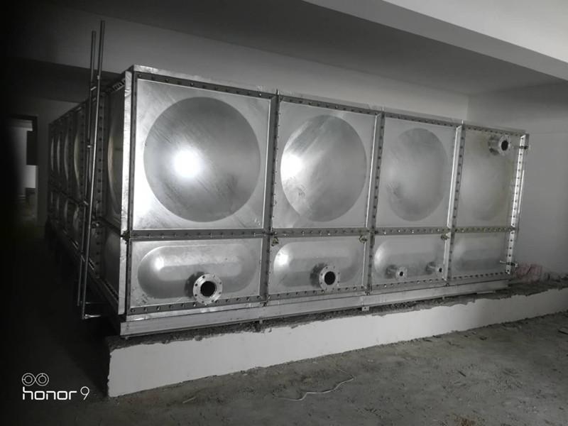 聊城36立方热镀锌钢板水箱