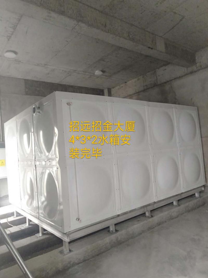 烟台招远市24立方热镀锌带聚氨酯彩钢壳保温水箱